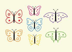 Vecteur gratuit de papillons colorés