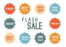 Vecteur de prix flash gratuit