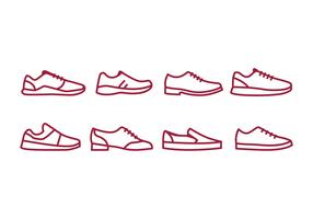 Chaussures Icon Pack vecteur