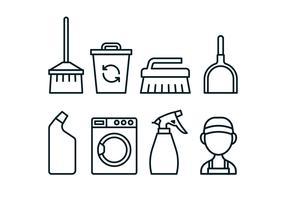 Pack d'icônes d'outil de gardien vecteur