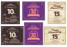 Vecteurs de carte de voeux joyeux anniversaire