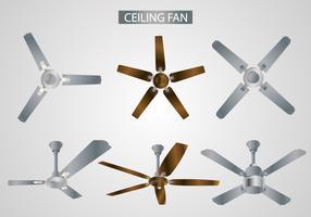 Vecteurs de ventilateur de plafond réaliste vecteur