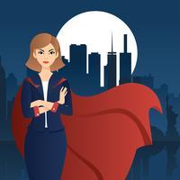 Superwoman vecteur libre
