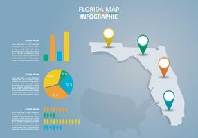 Vecteur de carte de Floride