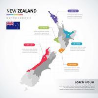 Nouvelle-Zélande carte infographique