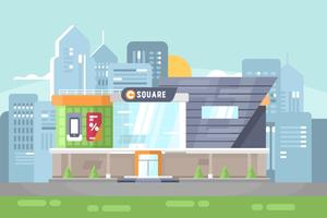 Illustration du centre commercial vecteur