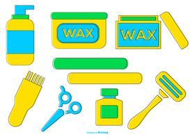 Collection d'icônes de rasage / cirage