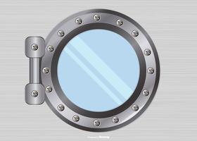 Illustration de fenêtre de navire en métal