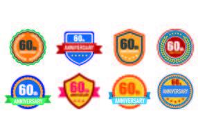 Ensemble de 60 badges vecteur