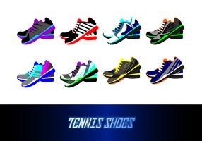 Vecteur de chaussures de tennis gratuit