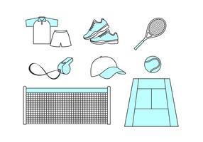 Vecteur libre de tennis