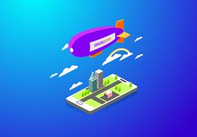 Vecteur gratuit App Dirigible