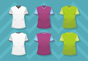 Modèle de chemise de cou de l'homme v
