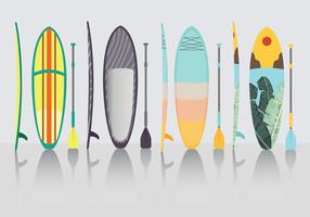 Pack de vecteur Paddle Board