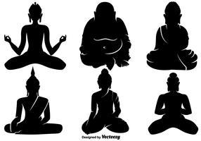 Icônes vectorielles de Bouddha vecteur