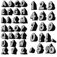 Alphabet de vecteur 3d