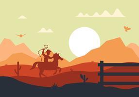 Illustration vectorielle de cow-boy