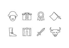 Icônes de jeu de torero