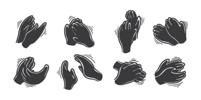 Mains Clapping Icons