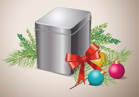 Vecteur de boîte de conserve en métal vide