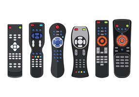 Télécommande pour téléviseur ou centre multimédia vecteur