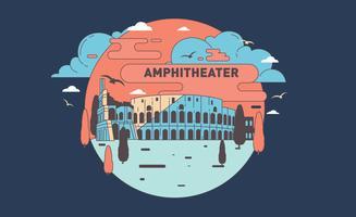 Vecteur de l'amphithéâtre