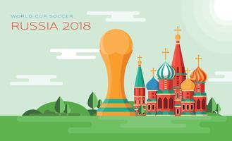 Coupe du monde de football vecteur