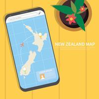 Illustration de carte de Nouvelle-Zélande gratuit