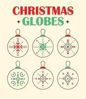Vecteur de globes de Noël gratuit