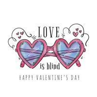 Lunettes de soleil en forme de coeur mignon pour la Saint-Valentin
