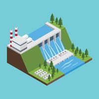 Vecteur gratuit d'énergie de l'eau des ressources naturelles