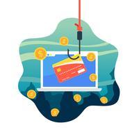 Phishing de carte de crédit vecteur gratuit