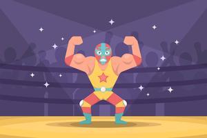 Vecteur de lutteur mexicain gratuit