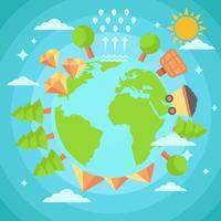 Terre libre avec vecteur de ressources naturelles