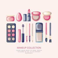 Collection de maquillage vecteur dessiné à la main