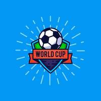 Badge du logo de la coupe du monde vecteur