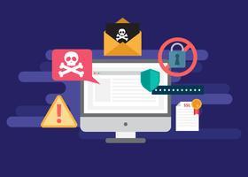 Phishing Internet gratuit, escroqueries et Illustration de Concept de sécurité vecteur