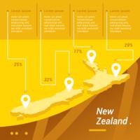 Carte infographique de la Nouvelle-Zélande vecteur