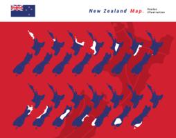 Nouvelle-Zélande carte vectorielle Illustration