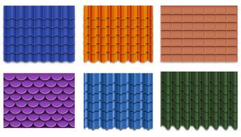 Collection de tuiles de toit de vecteur