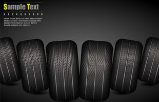 Modèle de pneus pneumatiques de vecteur