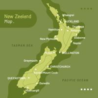 Vecteur de carte de Nouvelle-Zélande