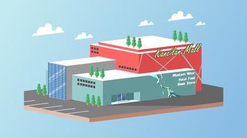Centre vecteur de centre commercial isométrique