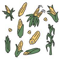 Dessins de maïs vecteur