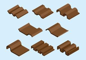 Icônes de tuile de toit vecteur