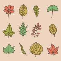 Feuilles d'automne vecteur
