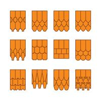Vecteur gratuit de collection de tuiles de toit