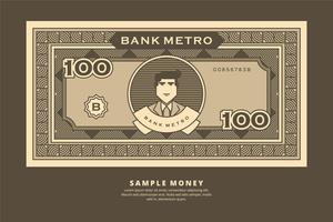 Exemple d'illustration d'argent vecteur