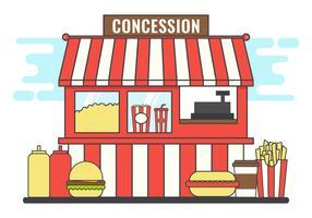illustration vectorielle de concession stand vecteur