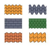 Vecteurs de tuiles de toit uniques gratuits vecteur